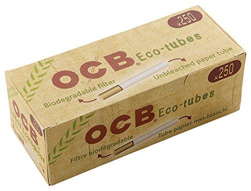 柘製作所(tsuge) 手づくりシガレット用 フィルター付きチューブ(さや紙) OCB ナチュラルチューブ [250本入り] #78853