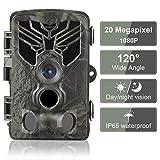 DIGITNOW! Caméra de Chasse 20MP 1080P IP65 Étanche, Caméra Surveillance avec 44Pcs LED Vision Nocturne Infrarouge Jusqu'à 80FT/25m et Grand Angle 120°