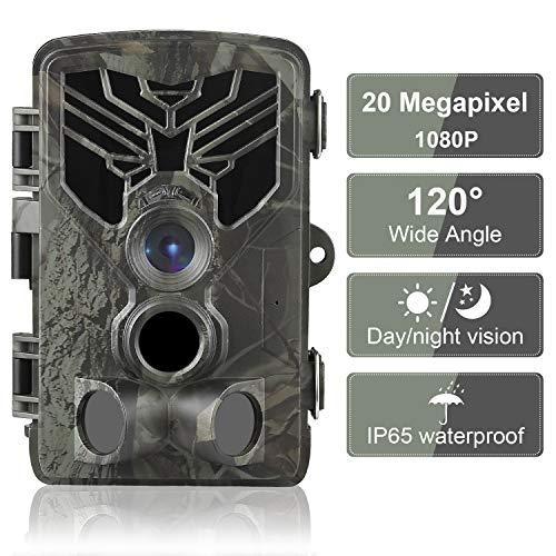 DIGITNOW! Wildkamera Fotofalle 20MP 1080P FHD Jagdkamera Beutekameras, 120° Weitwinkel Vision Und Infrarot 80ft/25m Nachtsicht, wasserdichte IP65 Überwachungskamera 44 IR LED