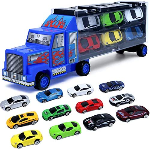 Cars Toddler Toys for Boys 3 4 5 6 7 Year Old Gifts Kids Car Toys Carrier Truck Toy Set Die product image