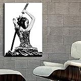 DHLHL Moderne Samurai Mädchen japanische Kunst
