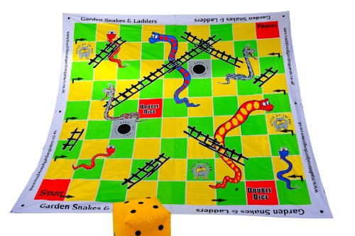 Traditional Garden Games Garden Snakes & Ladders
