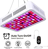 600W LED Grow Light Full Spectrum Plant Grow Lamp Led Hydroponic Lights with Timer Dimmable Veg&Bloom Channels for Grow Tent Greenhouse Hydroponic Plants Growth