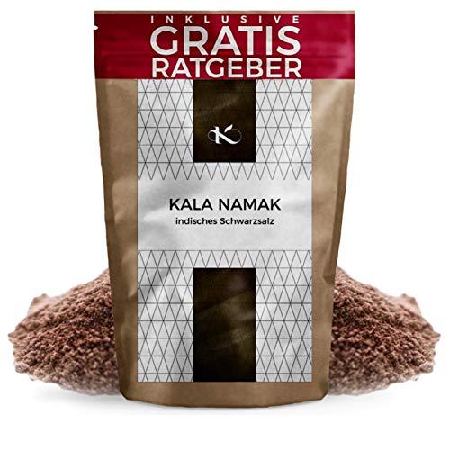 Kala Namak Gourmet Salz 750g | Schwefelsalz fein aus Indien | Naturbelassenes Schwarzsalz Steinsalz ohne Jod Zusatz | Gesundes unbehandeltes Natursalz