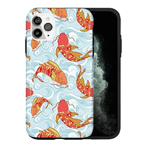 Funda para iPhone 12 Mini, diseño de carpa japonesa MA052_2 para iPhone 12 Mini, funda protectora y magnífica funda de teléfono, popular a la moda [doble capa, PC duro + silicona, probado por caídas]
