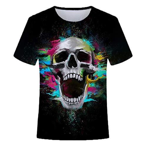 Unisexo Impreso en 3D Camisetas Tops Ocio de Verano Cuello Redondo Manga Corta S-6XL T1-M