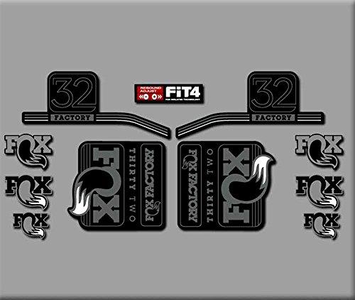 Ecoshirt VW-U7PJ-ZS3T sticker vork Fox 32 R283 stickers, zelfklevend, grijs