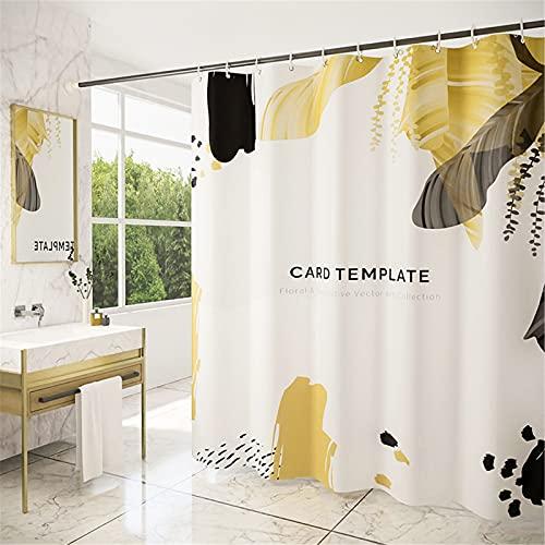 SUUZQK Polyester Dick Wasserdichter Polyester Stoff Duschvorhang Personalisierte Großversion Digitaldruck Duschvorhang