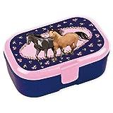 Lutz Mauder - Fiambrera para niños con diseño de caballos (3 unidades, sin nombre impreso, perfecta para niñas)