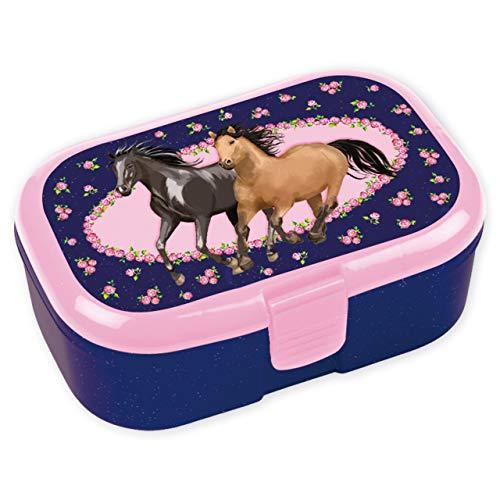 Lutz Mauder Lunchbox, 3 stuks, voor kinderen, broodtrommel zonder naamdruk, perfect voor meisjes, lunchbox, paardenpony…
