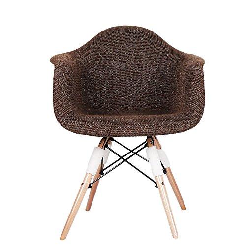 G-Y Canapé paresseux, Canapé simple nordique en bois massif, chaise de café, chaise longue de balcon (Couleur : Sombre Couleur Café)