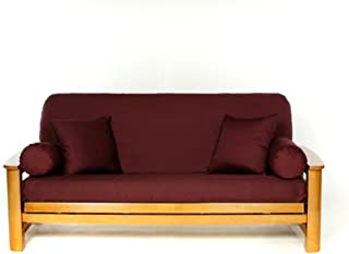 Lifestyle Covers 100 % Cotton Burgandy Full Size Futon Cover