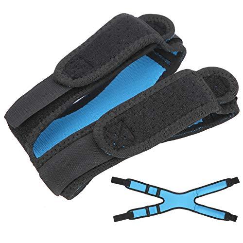 Aoutecen Rodillera Protectora elástica Doble Soporte de Rodilla Flexibilidad Rodillera de compresión Antideslizante para Deportes