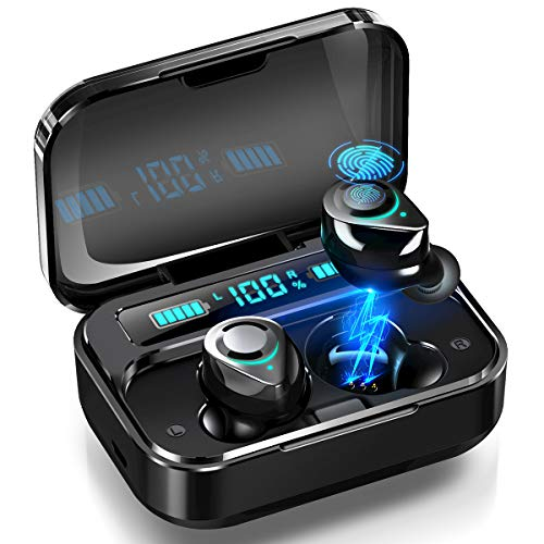 Bluetooth Kopfhörer In Ear, JOMARTO HiFi-Stereo Headset mit LED Digitalanzeige 3500mAh Ladebox, Bluetooth 5.0 Wireless Noise Cancelling Earbuds 140H Spielzeit, Automatische Pairing für iOS Android