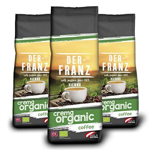 Der-Franz Espresso Crema-Bio-Kaffee UTZ, ganze Bohne, 3x500g