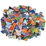 Pietre per Mosaico in Vetro, Mosaico in Cristallo, Forma Irregolare Colorata Poligonale -500g (Circa 300 Pezzi) Ideale per Lavori a Mosaico, Fai-da-Te