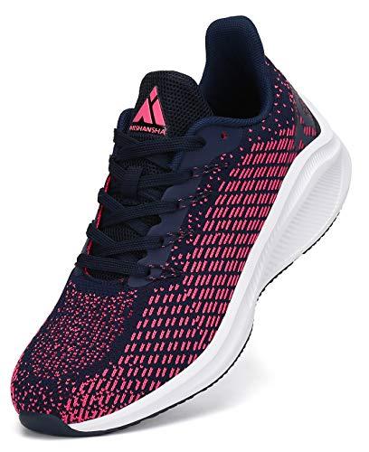 Mishansha Zapatillas de Fitness Mujer Transpirable Hombre Calzado de Atletismo Zapatos Rosa 38