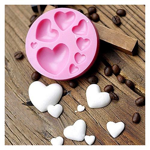 Yinyimei Moldes de Resina Amoroso corazón Forma Silicona Fondant Moho DIY Colorido Dulce corazón Chocolate Caramelo Pasta de Pastel de Pastel de decoración de la Herramienta Molde