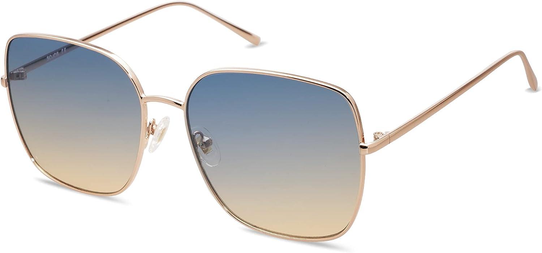 SOJOS Trendy Oversized Square Sunglasses for Women Men Flat Mirrored Lens Shield Sun Glasses Eternal SJ1146
