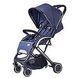 El Cochecito De Bebé Se Puede Sentar Y Acostar Buggy Infantil Portátil Plegable Recién Nacido Carrito De Carro De Bebé Carrito (Color: Azul Estándar)