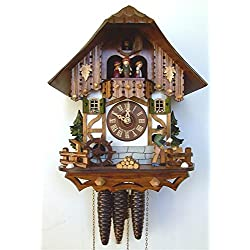 13 Chalet Cuckoo Clock with Wood Chopper and Children Figurines