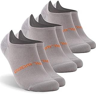 Athletic Running Socks, ZEALWOOD Unisex Merino Wool No Show Antibacterial Running Socks,1/3 Pairs