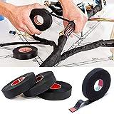 2 piezas Cinta Aislante de algodón, Juego de cables resistente al calor de adhesivo de tela cinta telares para coche motocicleta para mazos de Cables domésticos o automotrices