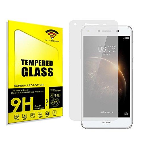 actecom® Protector DE Pantalla para Huawei Y6 II Compact Mini Cristal Vidrio Templado