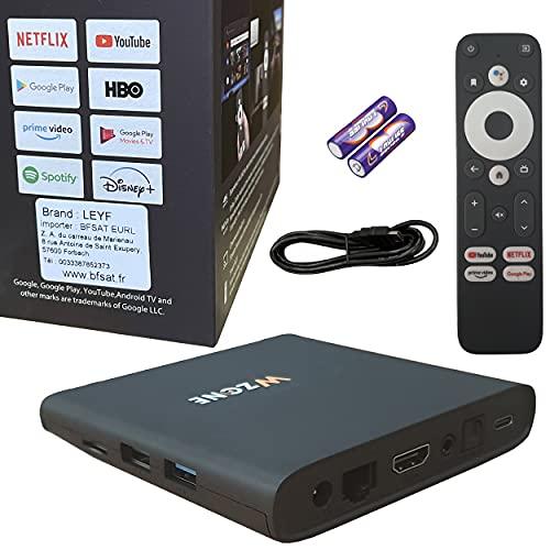Leyf 4K TV BOX Android 10 11 12 13 Free Upgrade - ARM...