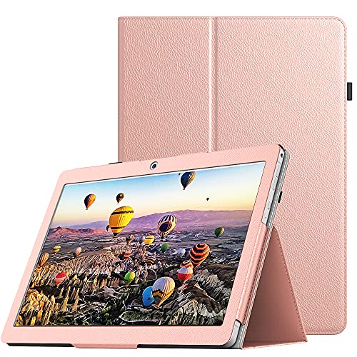Dragon Touch K10 ケース TiMOVO Dragon Touch K10 Tablet 10 inch カバー ドラゴンタッチ K10 タブレット用スマートケース PUレザー外装 手帳型 オートスリープ機能 スタンド仕様 耐摩耗 高級感 全面保護 RoseGold