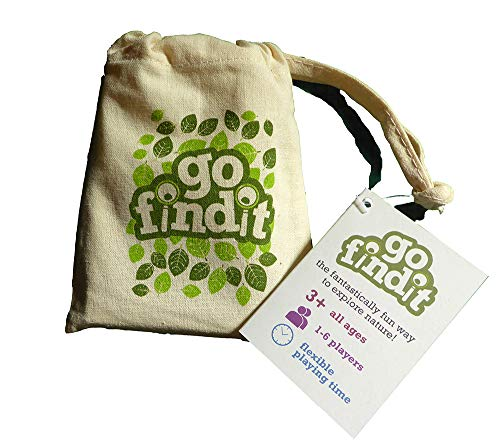 gofindit - outdoor nature treasure hunt card game for families by Sensory Trust