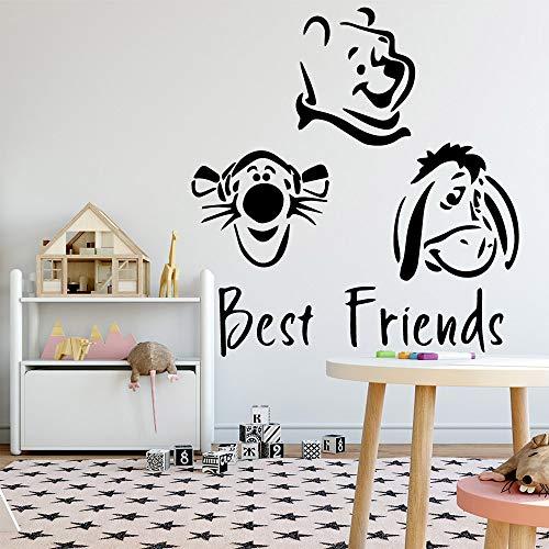 zqyjhkou Moda Mejores Amigos Pegatinas de Pared Personalizadas Creativas para decoración del hogar Fondo Pared Arte calcomanía l 43 cm x 45 cm