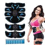 Electroestimulador Muscular Abdominales, EMS Estimulación Muscular Masajeador Eléctrico Cinturón para Abdomen/Cintura/Pierna/Brazo