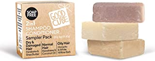 Conditioning Shampoo Bars - Sampler Pack (3 travel size bars) - TRY ALL THREE to find your perfect match! | Scented | Long...