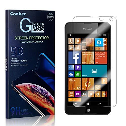 Conber Panzerglasfolie für Microsoft Lumia 650, [4 Stück] 9H gehärtes Glas, Kratzfest, Blasenfrei, Hülle Fre&llich Hochwertiger Panzerglas Schutzfolie für Microsoft Lumia 650