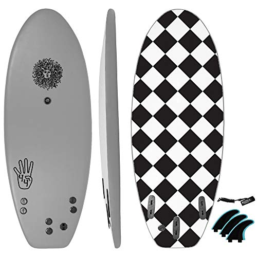 KONA SURF CO. The 4-4 Surfboard for Beginners Kids and...