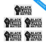 Feeke Black Lives Matter Anti-Racism BLM Movement Large Bumper Sticker or Laptop Decal(5 pcs)