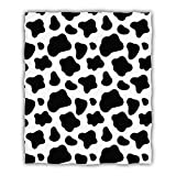 Hooome Cow Print Blanket,Super Soft Full Size 50' x 60',Luxury Plush Fleece Blanket for Sofa Bed Office Gifts