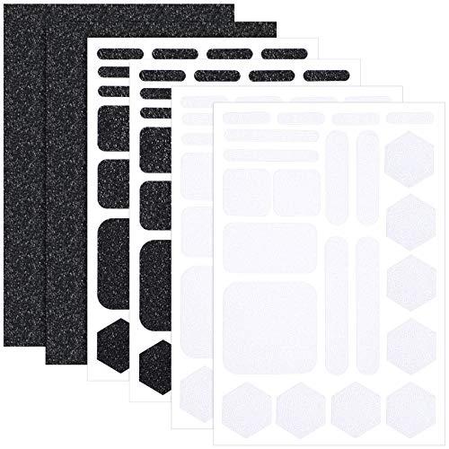 6 개 그립대 전화 스티커 비-슬립 셀룰라 전화는 그립 질감 테이프 고무 접착제를 견인 그립 벽 스티커를 위한 휴대 전화 태블릿 컴퓨터 게임 검은색 및 흰색