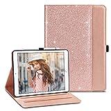 ULAK iPad 6th 5th Generation Case, iPad 9.7 2018/2017 Cases, Premium PU Leather Multi-Angle Viewing Folio Smart Stand Cover for iPad 9.7 inch iPad 5th/6th Generation, Auto Wake/Sleep (Rose Gold)