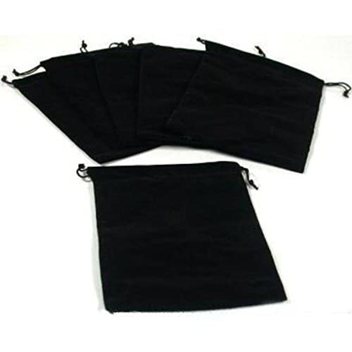 FindingKing 6 Pouches Black Velvet Drawstring Jewelry Bags 5