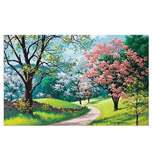 Tosonse Rompecabezas de 1000 Piezas para Adultos y niños Cherry Blossoms Park Puzzle Regalos de quedarse en casa