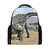 MUOOUM Dino Dinosaur Egg Ampelosaurus Polyester Backpack School Book Bag Travel Daypack