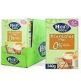 Hero Baby Papillas de 8 Cereales con Miel -Para Bebés a Partir de los 6 Meses - Pack de 6 x 340 g