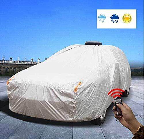 TYZXR Universal Autoabdeckung,Automatische Intelligente wasserdichte Regen-Sonne-UV-Schutz FüR Alle Wetterbedingungen Mit Baumwoll-ReißVerschluss FüR Automobile Indoor Outdoor