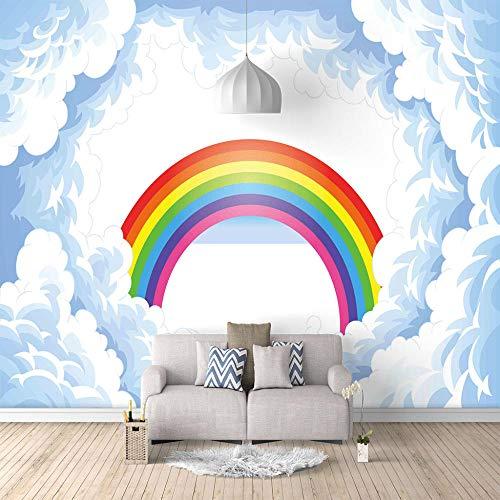 Tapetenkleister Fototapete Regenbogen 350X256Cm Vlies Tapeten Wandtapete Moderne Wanddeko Design Wand Dekoration Wohnzimmer Schlafzimmer Büro Flur Landschaft