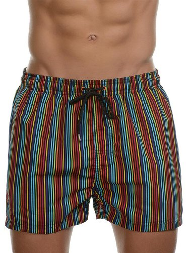 Bruno Banani Short de bain pour homme - Multicolore - Small