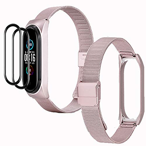 [3 Productos] IMBZBK 1 Oro rosa Metal Correas Metal para Xiaomi Mi...