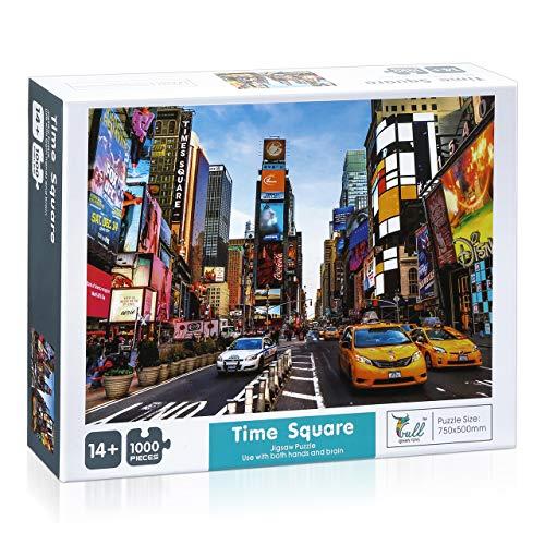 Powerextra 1000 Teile Times Square Puzzle, Klassische Puzzle 1000 Teile Stressabbau Spielzeug für Erwachsene Kinder