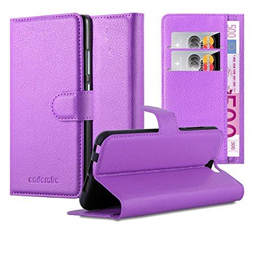 Cadorabo Custodia Libro per HTC ONE A9 in VIOLETTA AMETISTA - con Vani di Carte, Funzione Stand e Chiusura Magnetica - Portafoglio Cover Case Wallet Book Etui Protezione